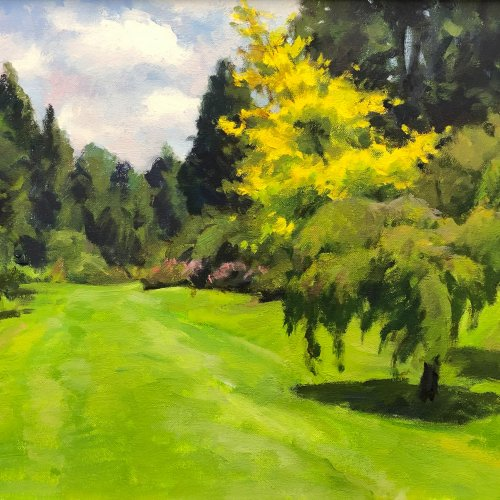 Azalea Way, oil on canvas, 12 x 16 inches, copyright ©1994
