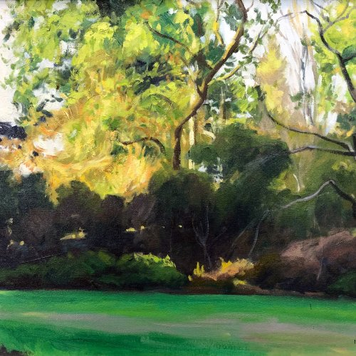 Azalea Way Entrance, 16 x 20 inches, copyright ©1993
