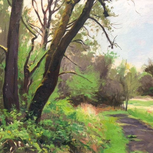 Path, oil on canvas, 23 x 32 inches, copyright ©1991