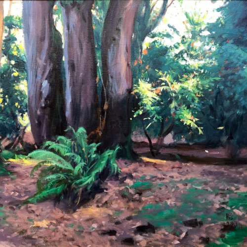 Trees III, oil on canvas, 22 x 23 inches, copyright ©1993