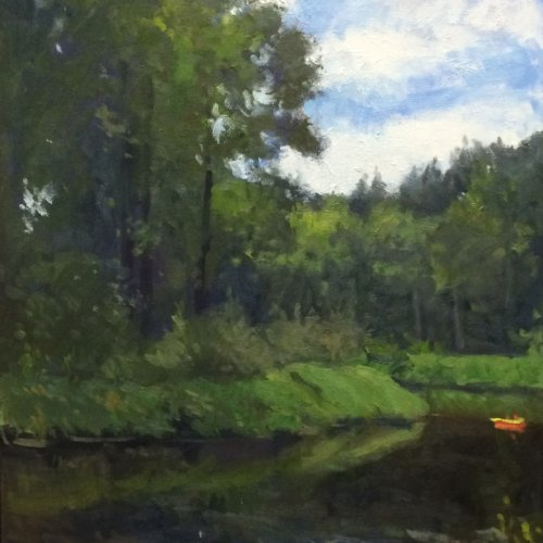The Park at Bothell Landing, oil on canvas, 24 x 18 inches, copyright ©2014