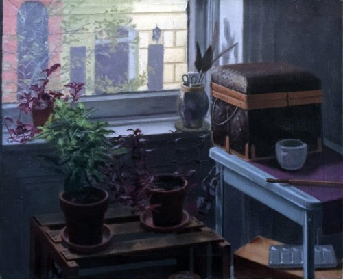 NYC Still Life, oil on canvas, size unknown, copyright ©1979