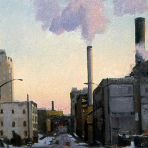 Western Steam, oil on canvas, 19 x 18 inches, copyright ©1988