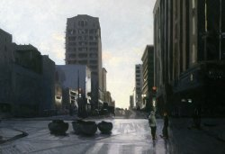 Pine Street, oil on canvas, 29.5 X 40 inches, copyright ©1994