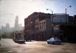 Chi-town, oil on canvas, 21 X 30 inches, copyright ©1991