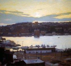 Lake Union Study, oil on canvas, 23.5 X 25 inches, copyright ©1990