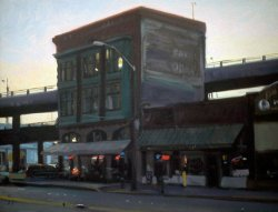 Triangle Building, oil on canvas, 18 X 24 inches, copyright ©1991