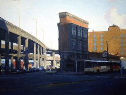 Flat Iron Building II, oil on canvas, 16 X 20 inches, copyright ©1992