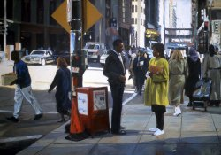 Sidewalk Frieze, oil on canvas, 25 X 35 inches, copyright ©1991
