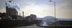 View from the Viaduct, oil on canvas, 12 X 30 inches, copyright ©1992