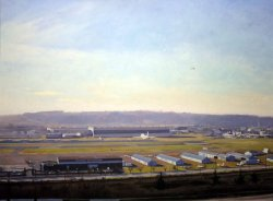 Boeing Field, oil on canvas, 44 X 60 inches, copyright ©1986