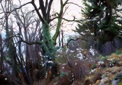 Winter Trees, oil on canvas, 30 X 40 inches, copyright ©1990
