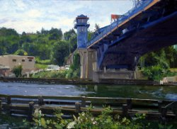 Fremont Bridge I, oil on canvas, 26 X 36 inches, copyright ©2002