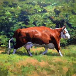 A Beast Of The Field, oil on canvas, 52 x 52 inches, copyright ©2015