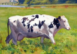 Holstein, oil on canvas, 18 X 24 inches, copyright ©1998