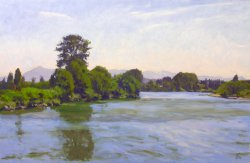 Snohomish River, oil on panel, 24 X 36 inches, copyright ©2009