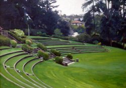 Ampitheater, oil on canvas, 30 X 42 inches, copyright ©1990