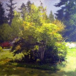 The Thing In The Yard, oil on canvas, 36 x 36 inches, copyright ©2015